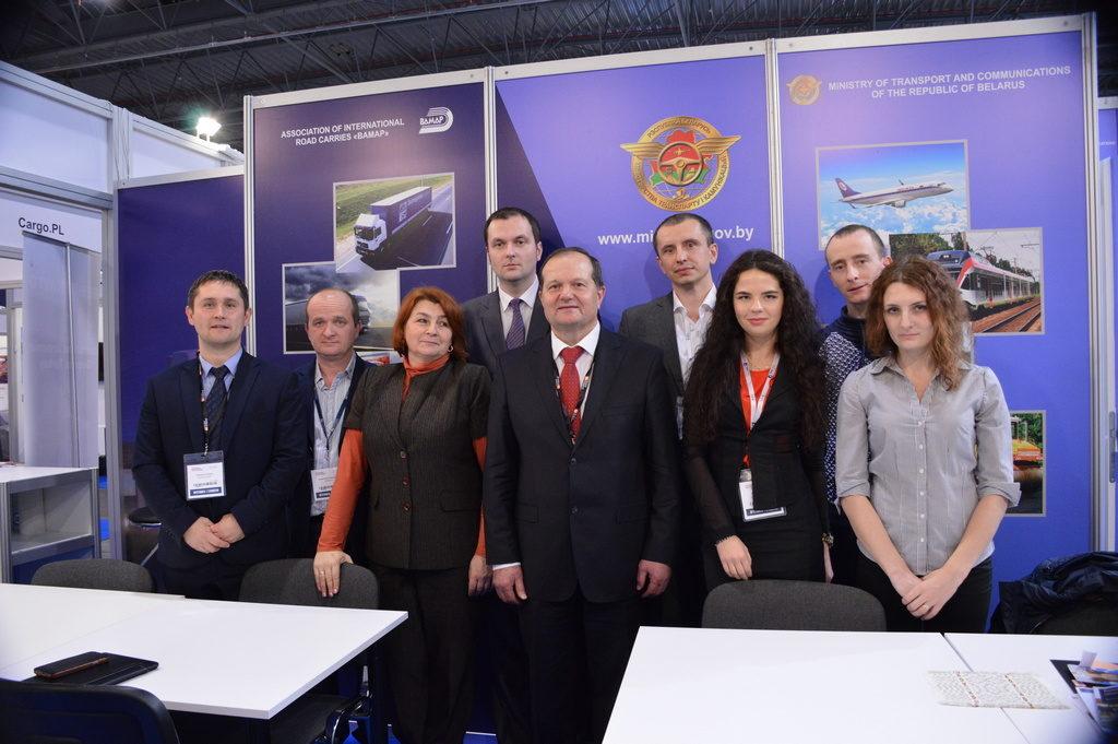 Наши сотрудники на транспортной выставке в Варшаве av-logistics.by
