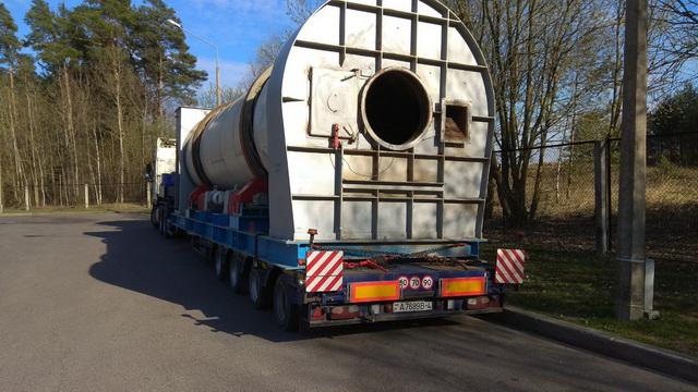 Негабаритная перевозка сушильного барабана av-logistics.by