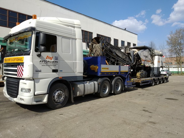 Перевозка дорожной фрезы, весом 32 тонны av-logistics.by