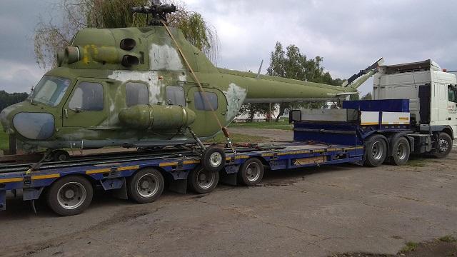"""ООО """"Автоальянс"""" выполнили перевозку вертолёта МИ-2 av-logistics.by"""